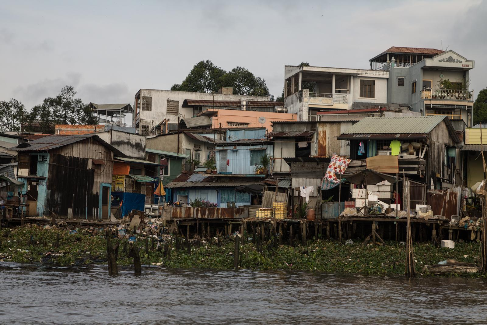 Houses in the Mekong Delta