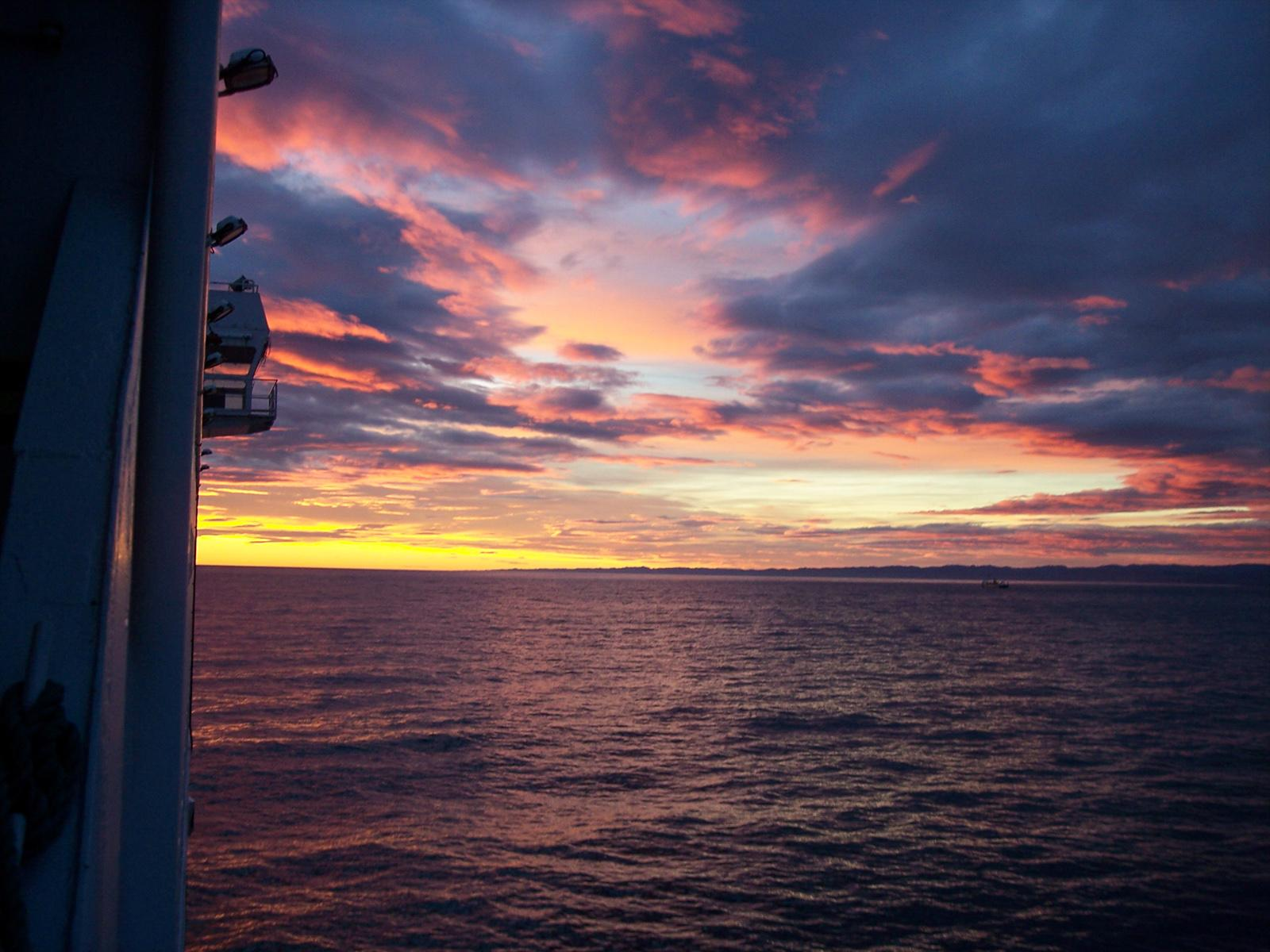 Sunset on Ferry