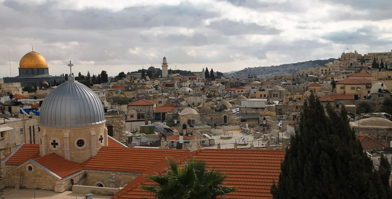 View over the Old Town of Jerusalem