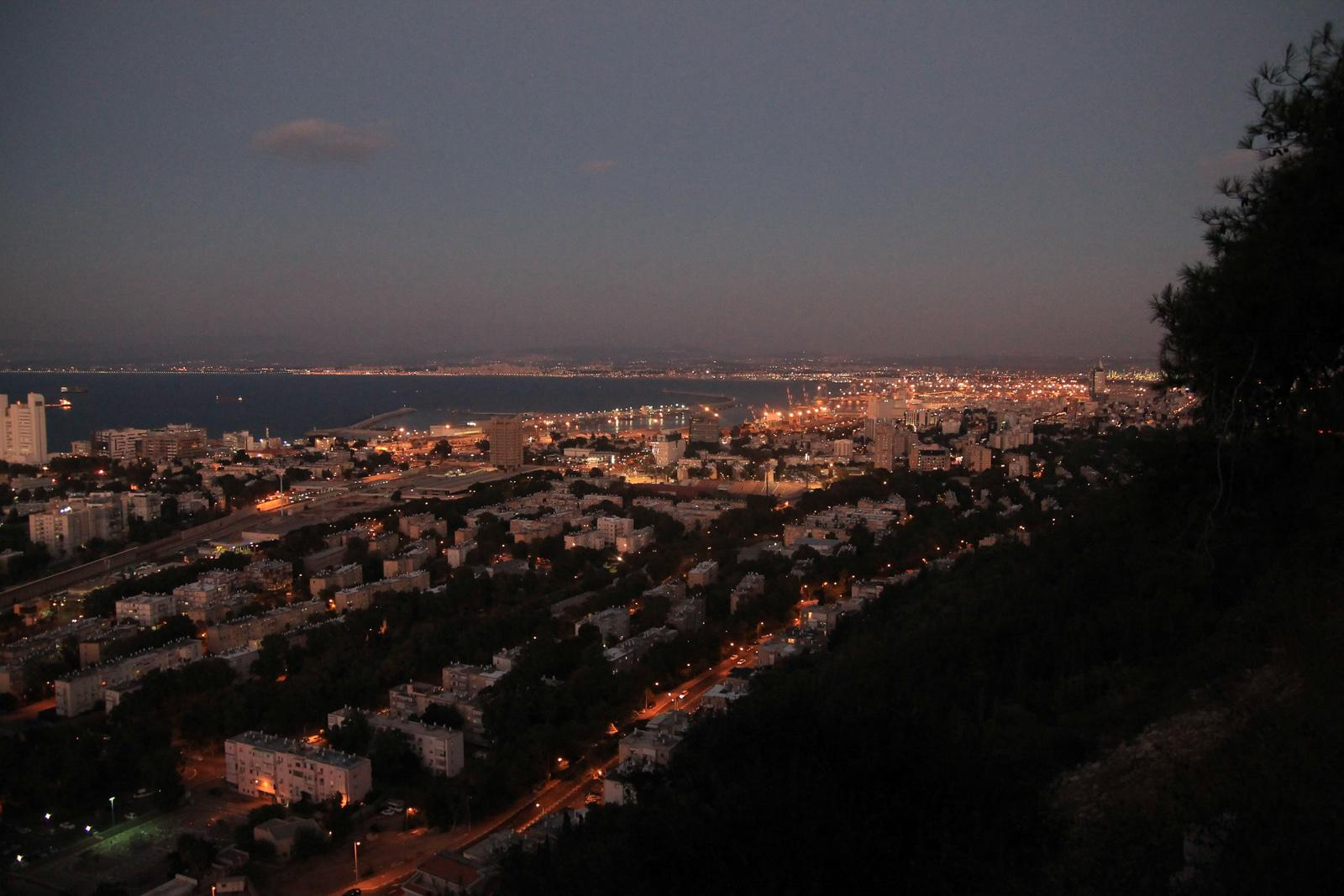 Sunset view on Haifa