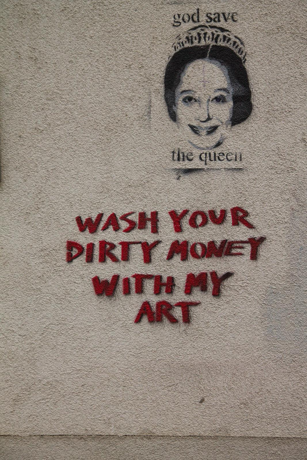 Wash your dirty money with my art