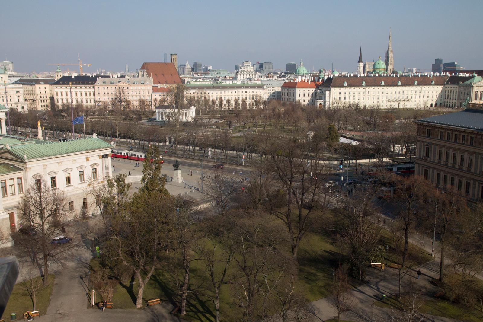 View on Vienna from the Palais Trautson