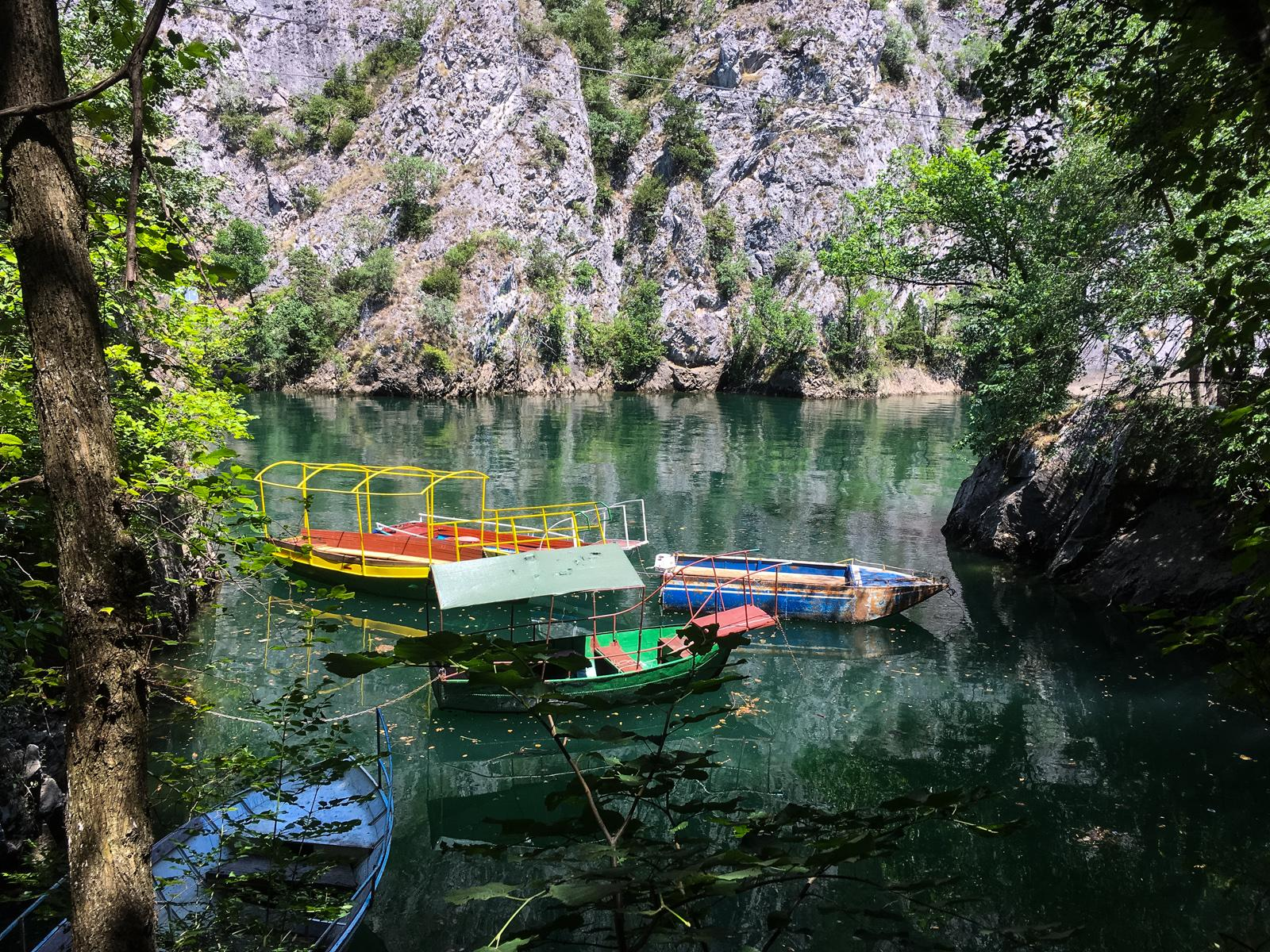 Boats on Lake Matka