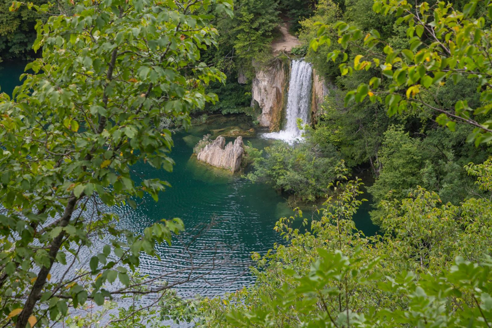 Waterfall in Plitvice Lakes National Park