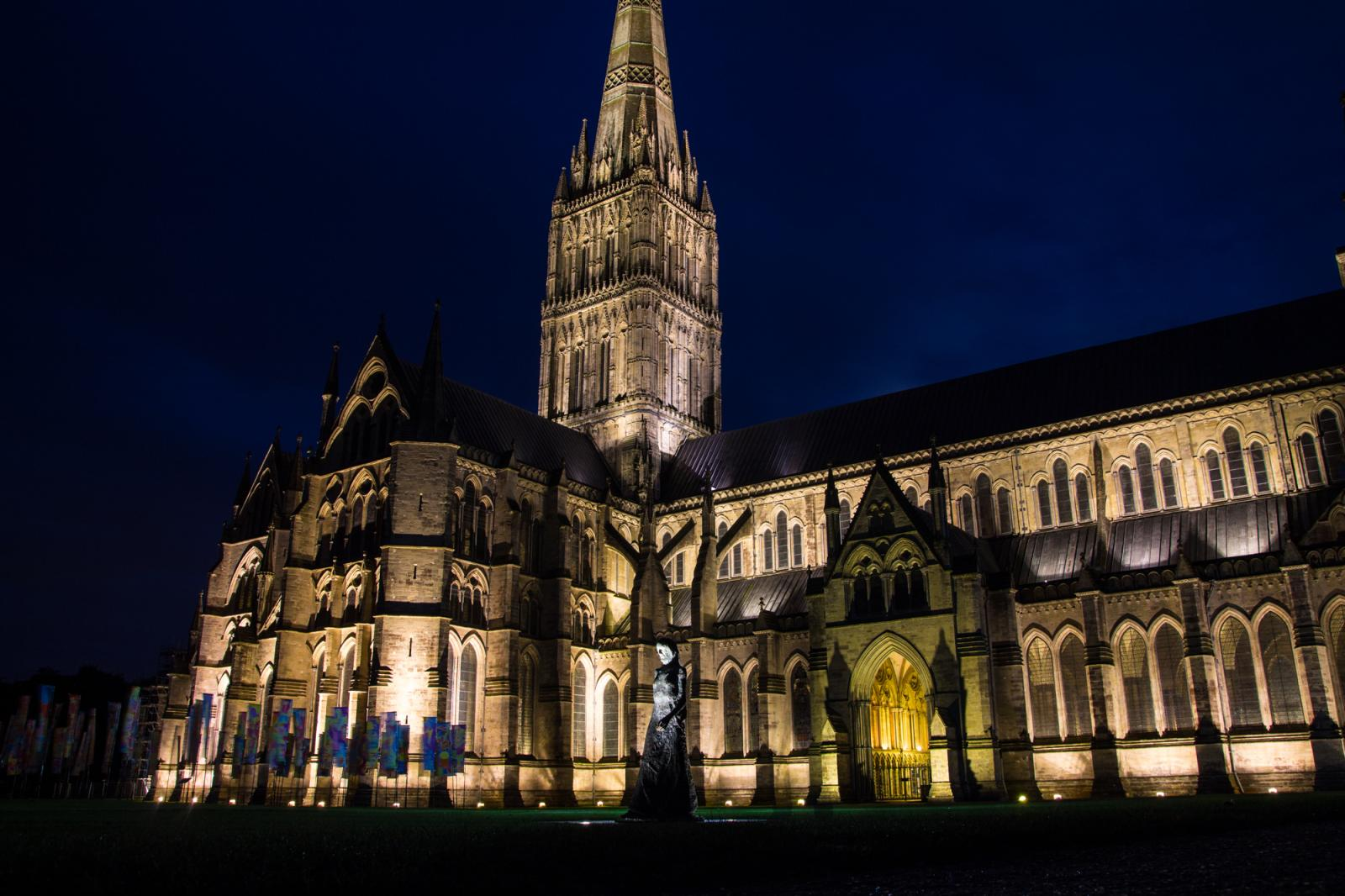 Salisbury Cathedral at Night