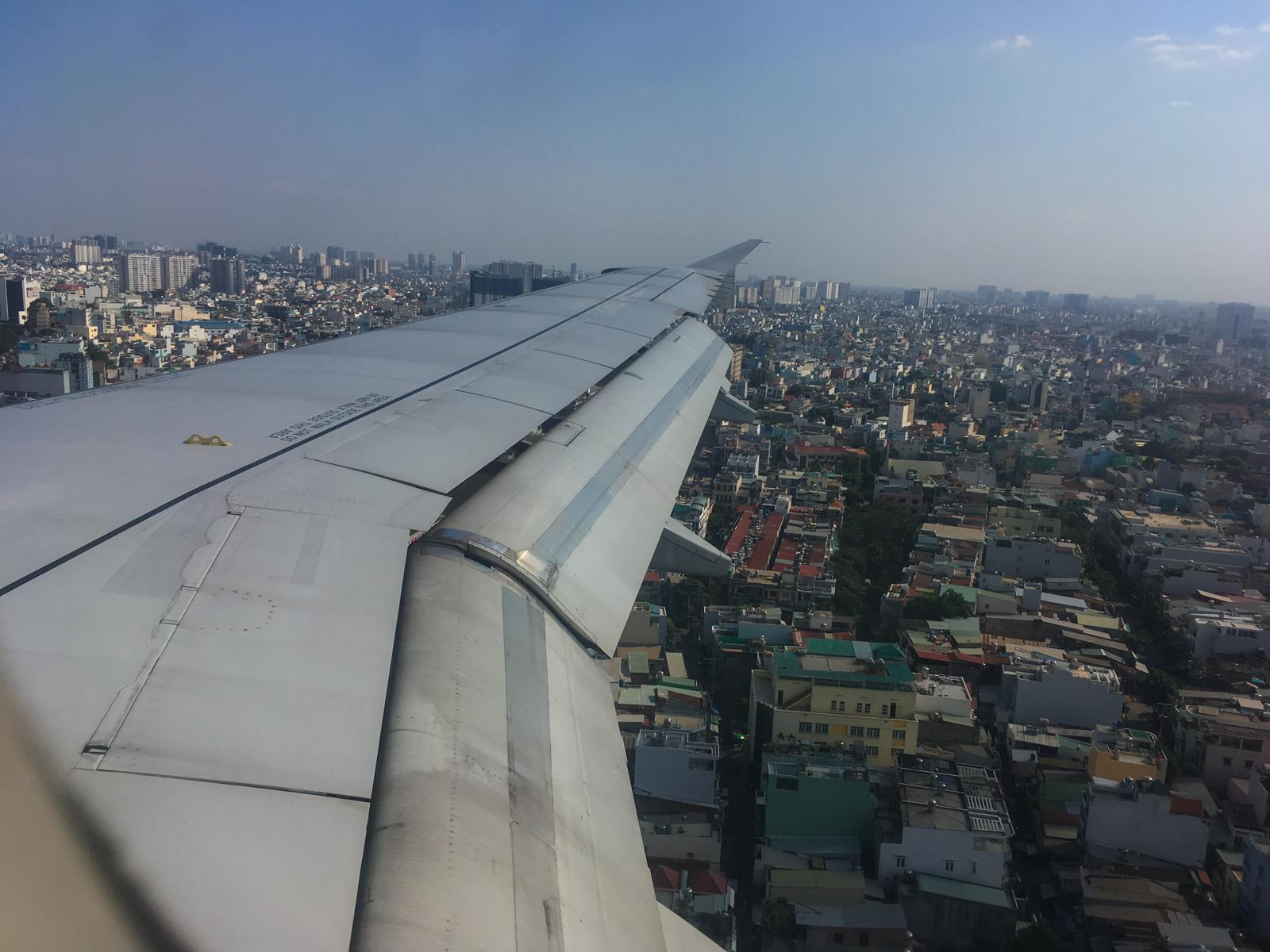 Plane Arriving in Saigon