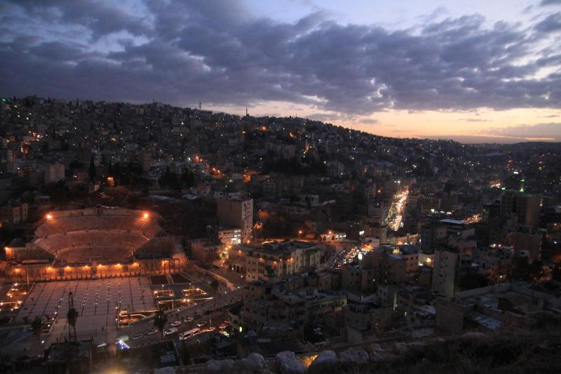 Romantheater in Amman during Sunset