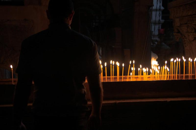 Candles in the Church of the Holy Sepulchre