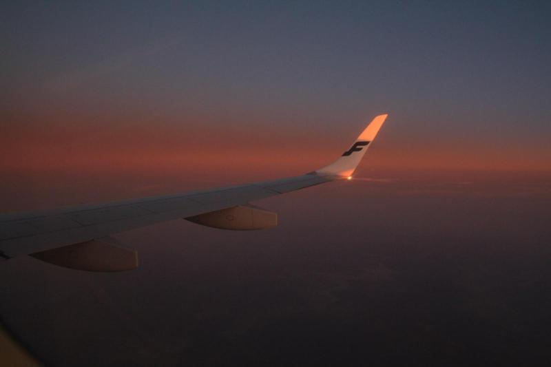Flight with Finnair