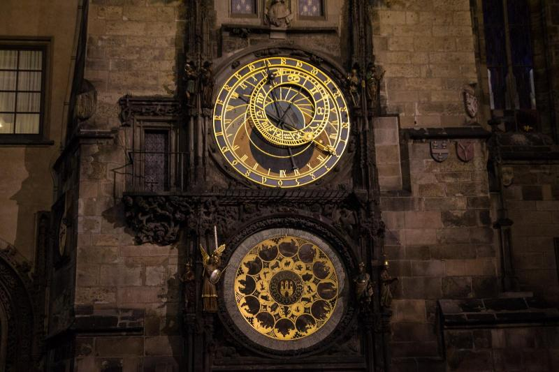 Prague Orloj (Medieval astronomical clock)