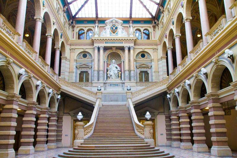 Entrance Hall of Palais Trautson