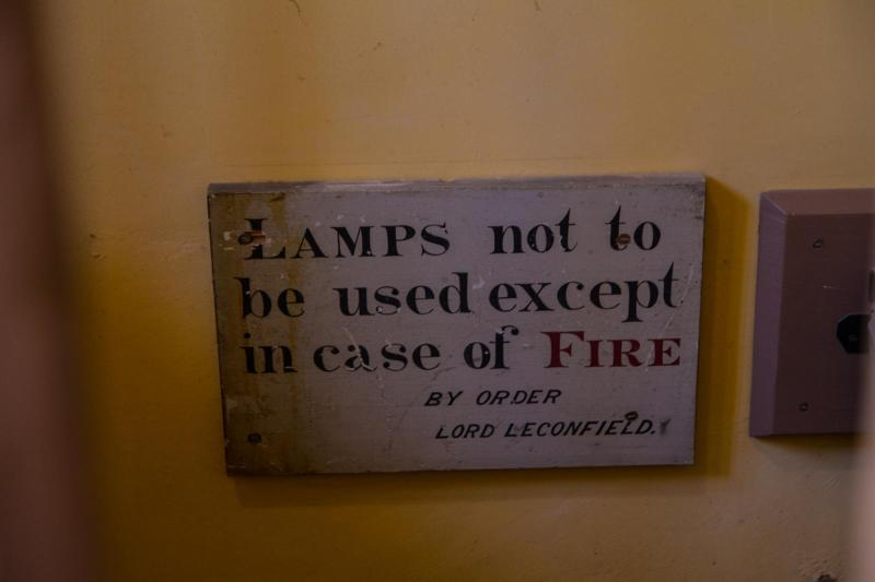 Lamps not be used except in case of fire