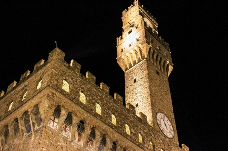 Town Hall at Night, Florence