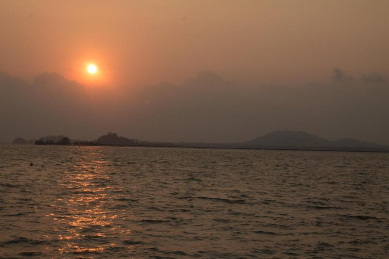 Sunset on the Ferry to Koh Chang